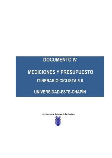 documento iv mediciones y presupuesto - Ayuntamiento de Jerez