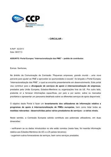 """""""Internacionalização das PME"""" – pedido de contributos - VectWeb SM"""