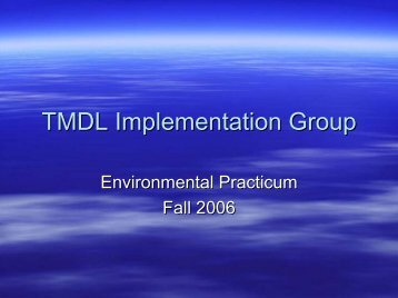 TMDL Implementation Group