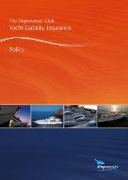 Club Yacht Liability Insurance Policy - Shipowners