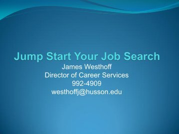 Jumpstart Your Job Search
