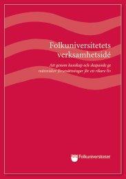 Verksamhetsidé 2012 - Folkuniversitetet