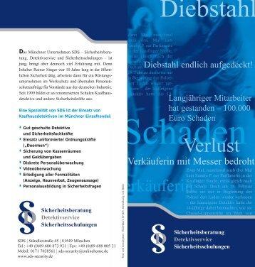 Diebstahl - SDS-Security