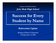 Success for Every Student by Name - Pasadena Unified School District