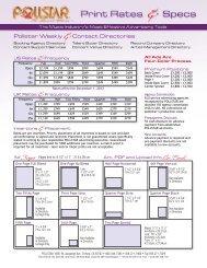 Printable Print Artwork Spec Sheet - PollstarPro