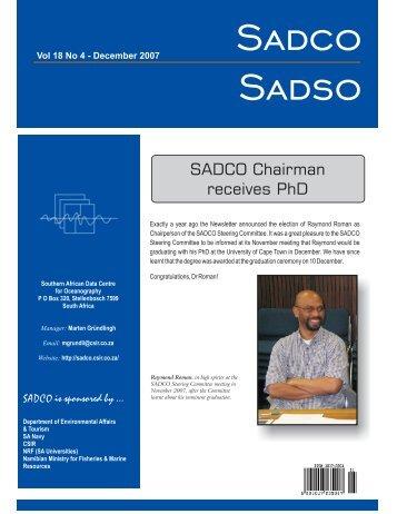 Vol. 18 No. 4 - sadco - CSIR