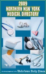 Medical Directory 2009 - Watertown Daily Times