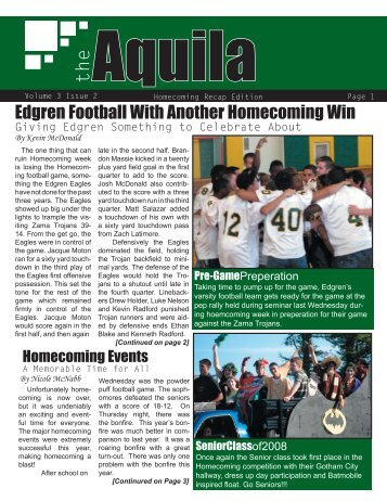 Vol.3.Issue.2.October.2007 - Edgren High School EagleNet - DoDEA