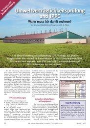 Umweltverträglichkeitsprüfung und IPPC - Landwirt.com
