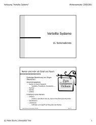 Verteilte Systeme Zum Goldenen Ochsen - Systemsoftware und ...