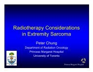 Radiotherapy Considerations in Extremity Sarcoma - Imedex