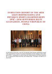 inspection report of the 46th asian bodybuilding and ... - ABBF