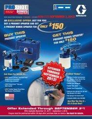 ProShot Bonus Promotion - Graco Inc.