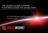 H1 2014 Results and Business Update