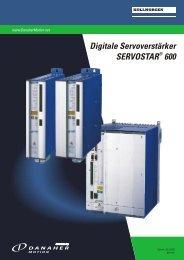 Digitale Servoverstärker SERVOSTAR 600 - BIBUS SK, sro
