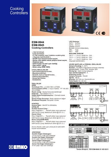 Cooking Controllers - Atlantik Elektronik Mühendislik