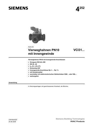 4252 Vierweghahnen PN10 mit Innengewinde VCI31...