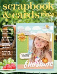 SUMMER 2011 ISSUE 22 - Scrapbook & Cards Today