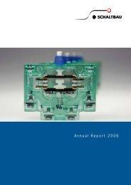 Annual Report 2006 - Schaltbau Holding AG