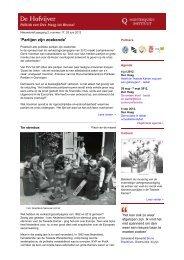 Nieuwsbrief De Hofvijver, 25 juni 2012 - Montesquieu Instituut