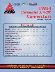 TW34 (Twinaxial) Connectors - (978) 927-1060 • FAX