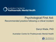 Psychological First Aid: - Life Saving Victoria