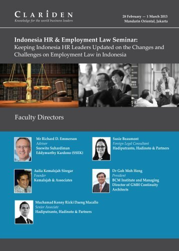Indonesia HR & Employment Law Seminar - Clariden Global