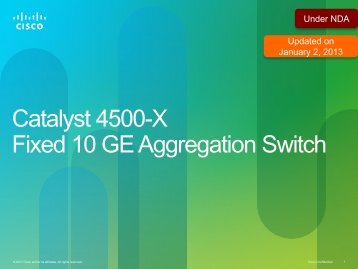 Catalyst 4500-X Fixed 10 GE Aggregation Switch