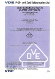 Vde-Zertifikat: E118 (Nr. 40027414) - F-tronic