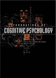 Foundations of Cognitive Psychology: Preface - Preface
