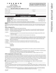 Electrical Order Form