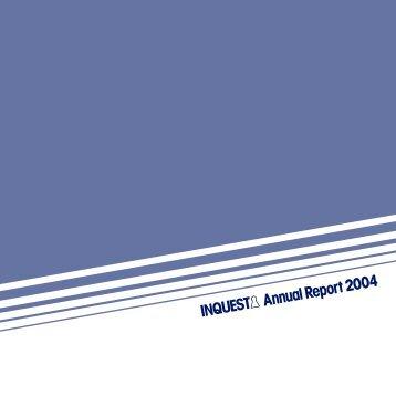 Annual Report 2004 - Inquest