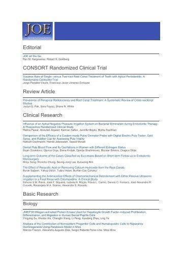 Journal of Endodontics September issue