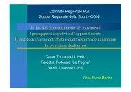 F. Barba - Corso PG1 FGI 2010 - Comitato Regionale Campania F.G.I.