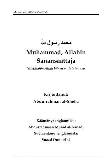 Muhammad Allahin sanansaattaja