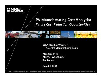 PV Manufacturing Cost Analysis: - Clean Energy States Alliance