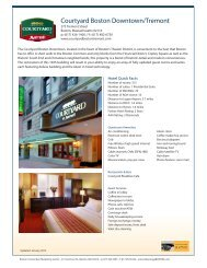 Courtyard by Marriott Boston Tremont Hotel - Advantage Boston