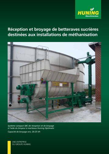 Réception et broyage de betteraves sucrières destinées aux ...