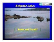 DEP - Belgrade Lakes Status and Trends