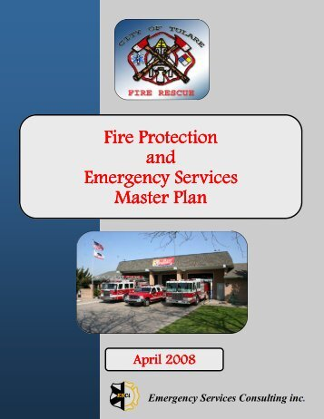 Fire Protection & Emergency Services Master Plan - City of Tulare