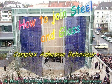 How to Join Steel and Glass – Complex ... - a-hagl-ingenieure