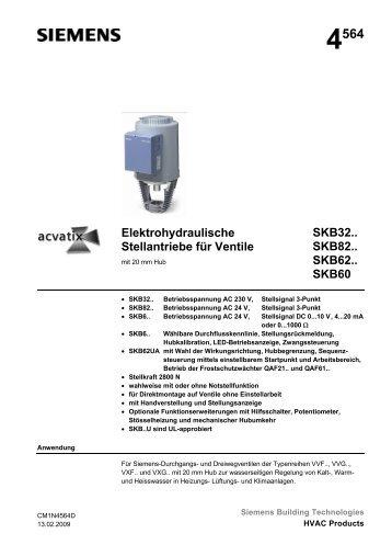 4564 Elektrohydraulische Stellantriebe für Ventile