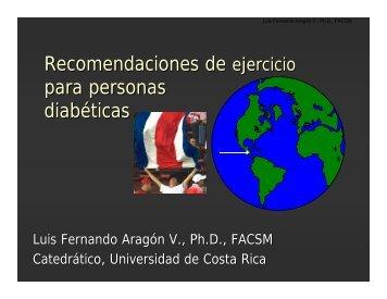 Recomendaciones de ejercicio para personas diabéticas