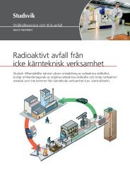 Radioaktivt avfall från icke kärnteknisk verksamhet