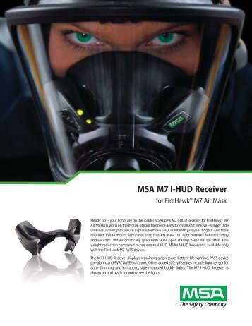 MSA M7 I-HUD Receiver - 5 Alarm Fire and Safety Equipment