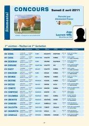 Catalogue du concours Simmental - Web-agri