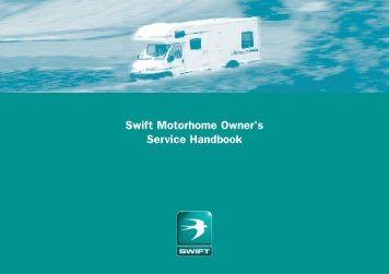 Swift Motorhome Owner's Service Handbook - Swift Group