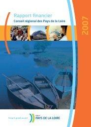 Le rapport financier - Conseil Régional des Pays de la Loire