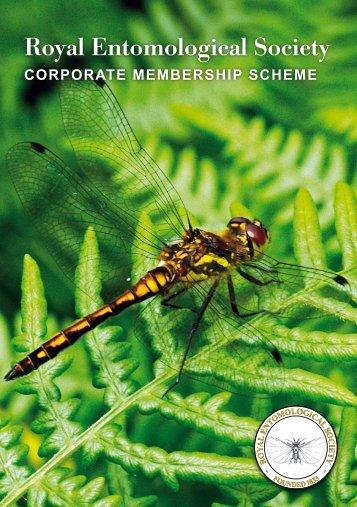 Corporate Membership Scheme Leaflet - Royal Entomological Society