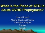 ATG in acute GVHD prevention after myeloablative HSCT - CBMTG